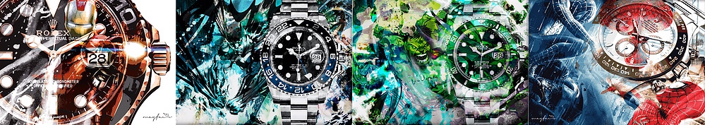 Marvel Comics inspired Rolex Fine Art Prints